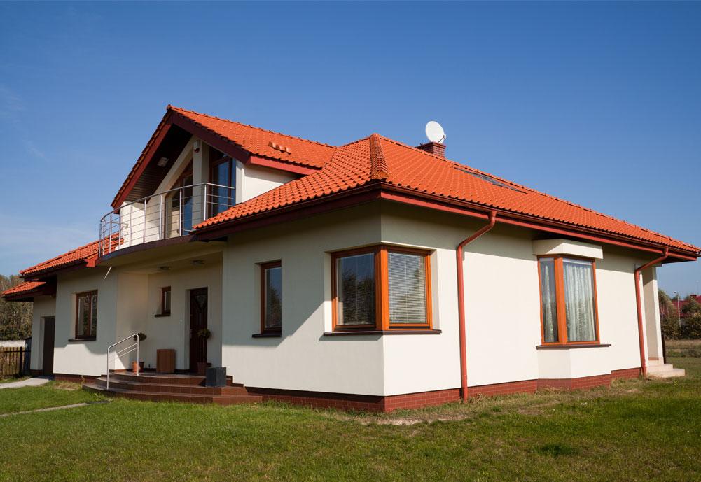 Фото дома белого цвета